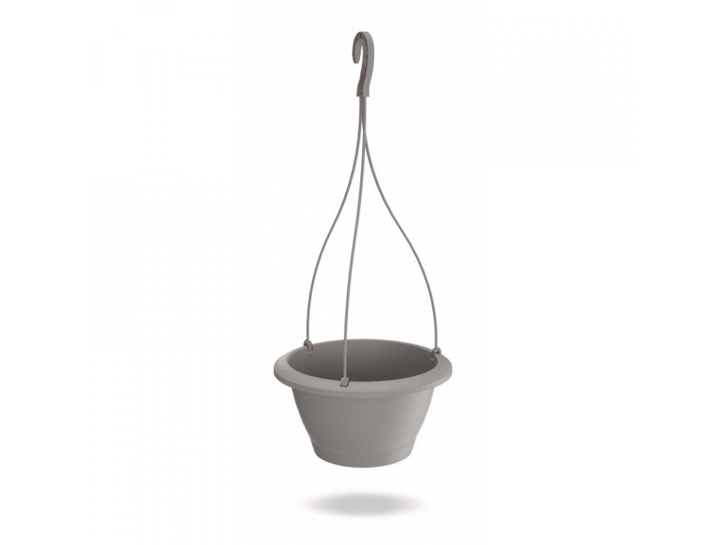 Květináč závěsný RESPANA průměr 27 cm - barva šedá