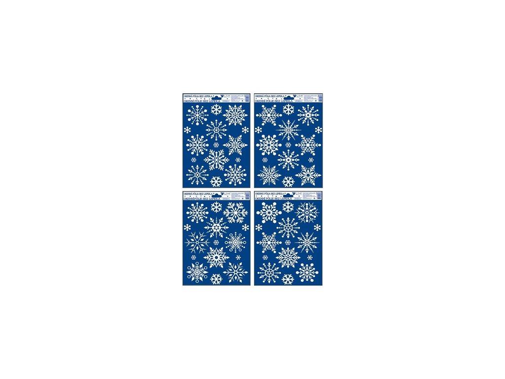 Okenní fólie vločky se sněhovým efektem 3D,27x20cm