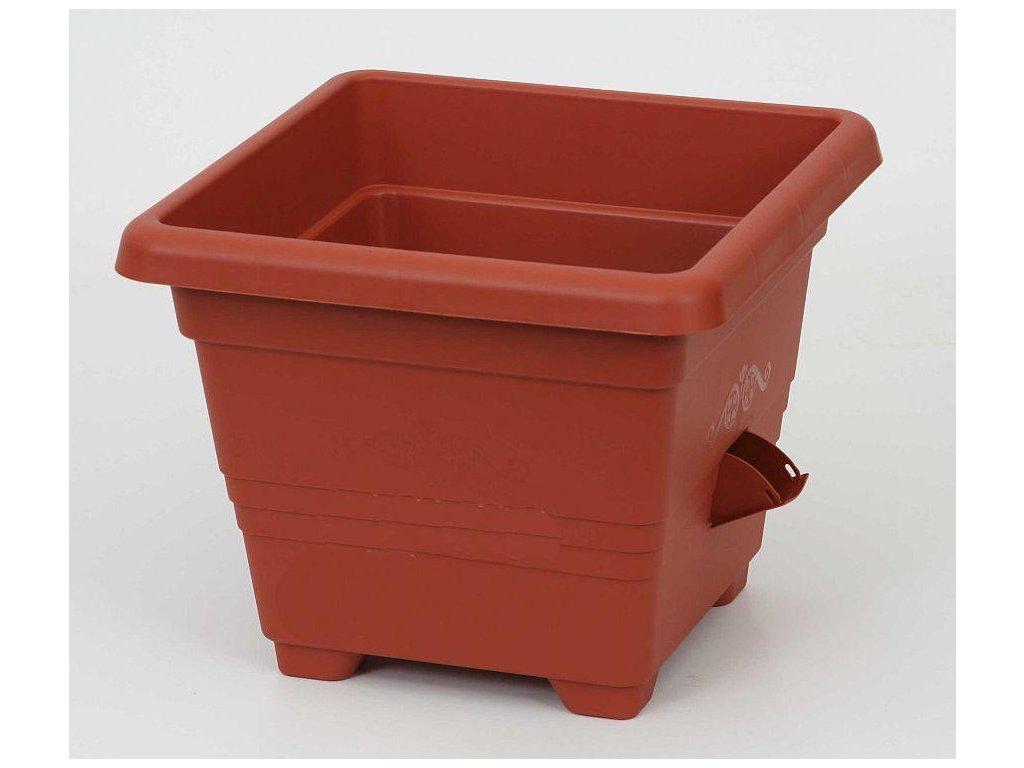 Samozavlažovací květináč Bergamot - 50x50 cm - barva terakota (cihlová)