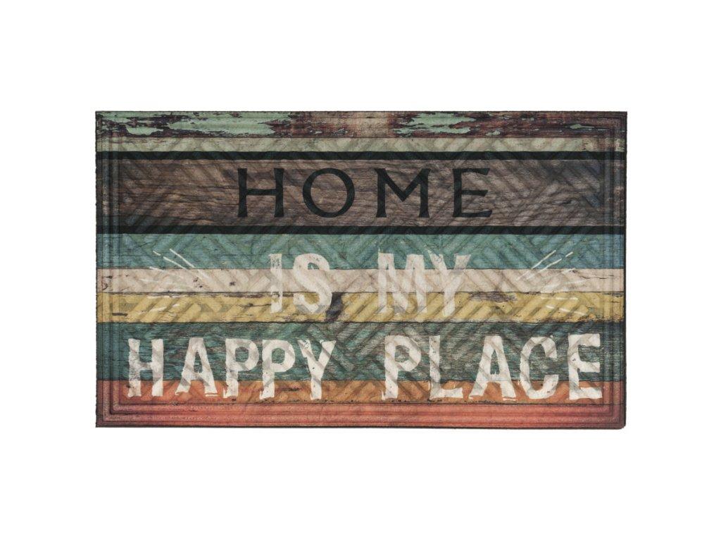 Rohož Šťastný domov 45 x 75 cm