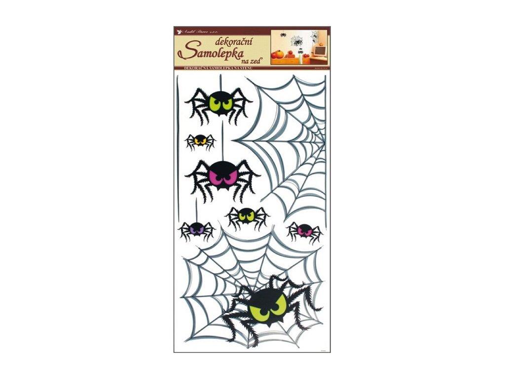 Samolepky na zeď pavouci 60x32cm