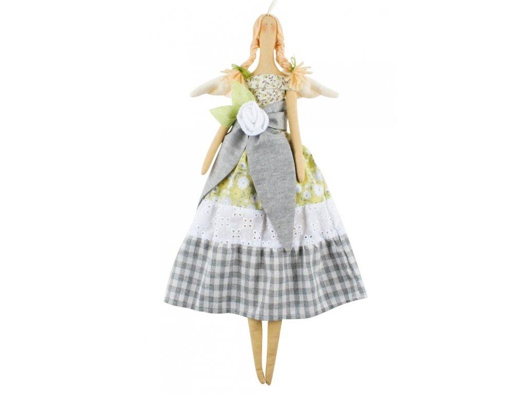 Andělka látková, limetková 47 cm