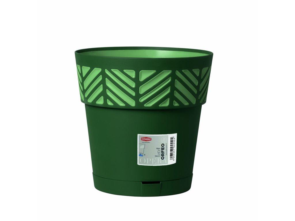 Květináč plastový Opera ORFEO průměr 25 cm - barva zelená