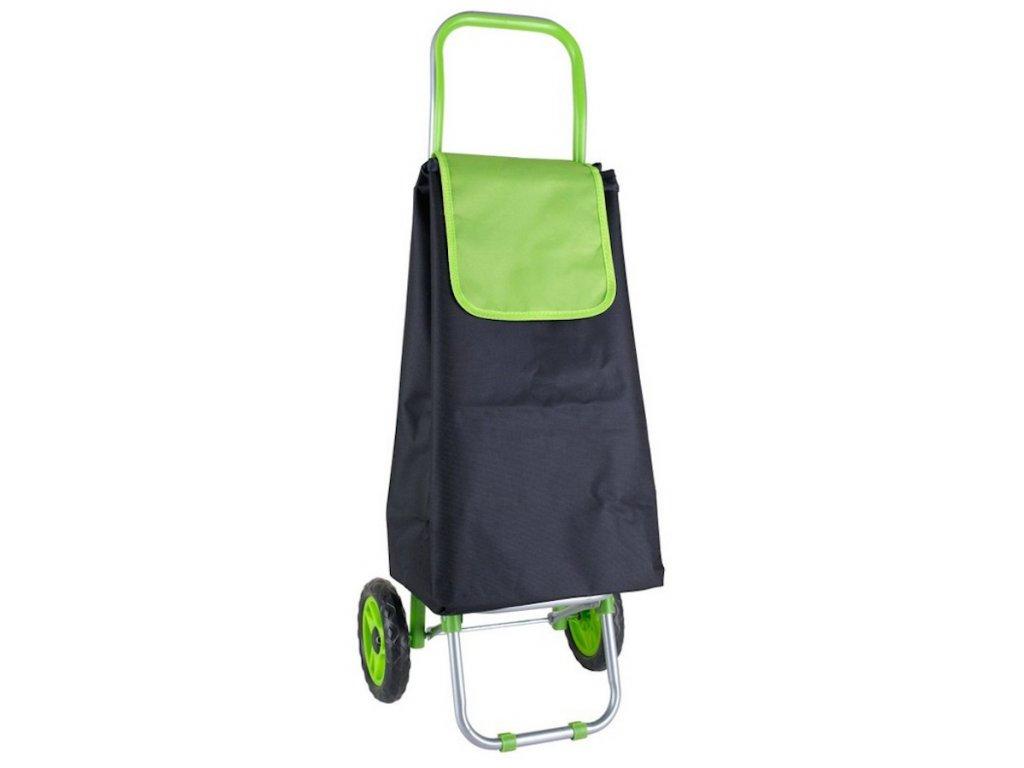 Nákupní taška na kolečkách RIO černo-zelená 32 L