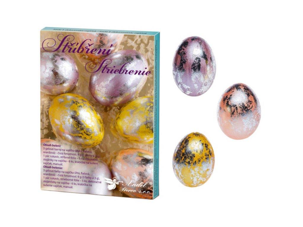 Sada k dekorování vajíček - stříbření