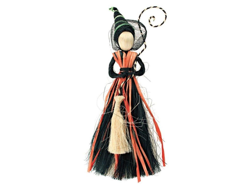 Čarodějnice černooranžová 28cm