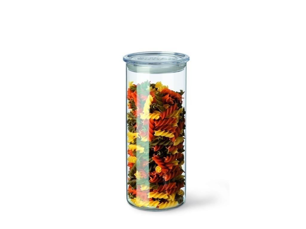 SIMAX dóza na suché potraviny skleněná s plastovým víčkem - doza 1,4L, pr. 9,6 cm, výška 23,3 cm