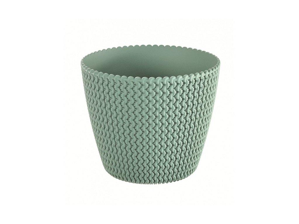 Květináč plastový SPLOFY průměr 26 cm - barva zelená (623U)
