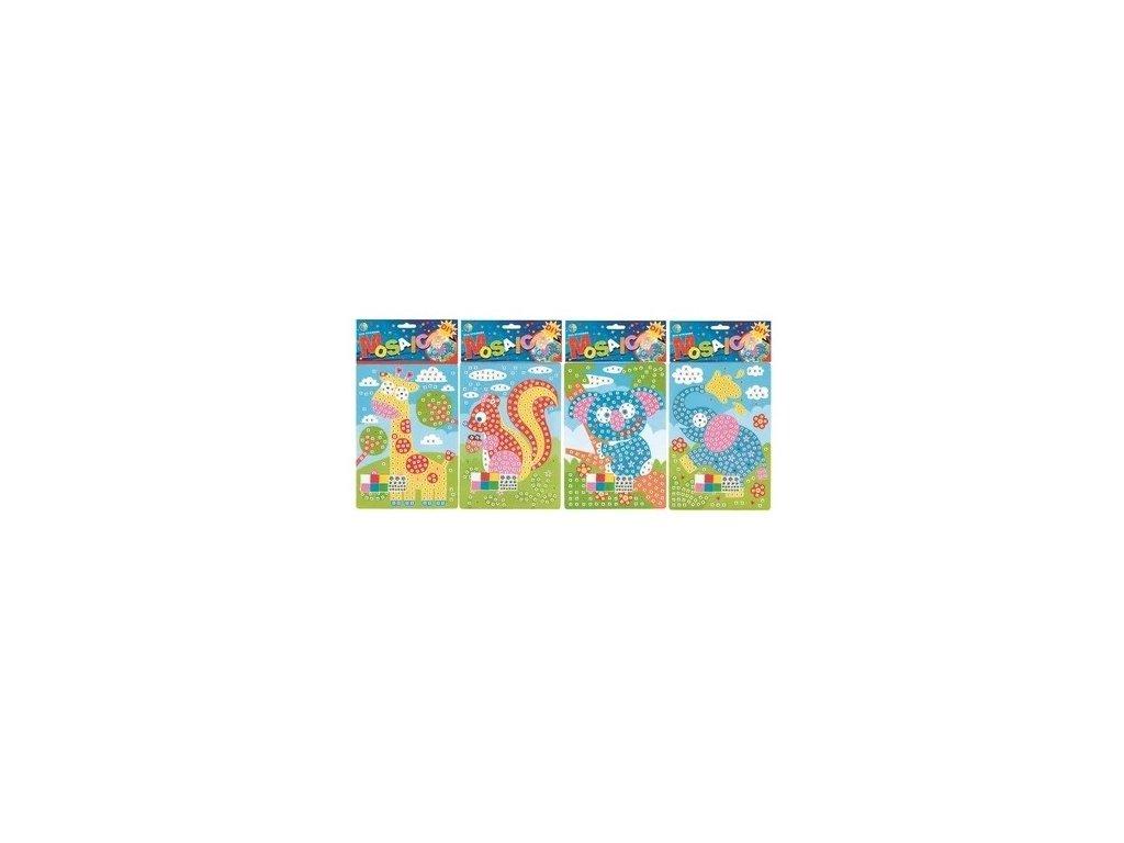 Mozaika zvířátka 23x16 cm