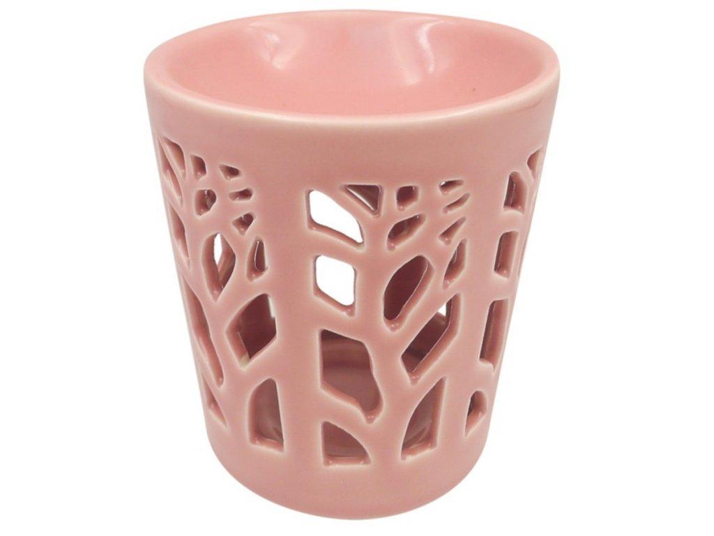 Aromalampa porcelánová růžová 13 cm