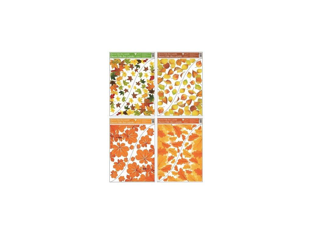 Okenní fólie rohová 42x30 cm, podzimní listí