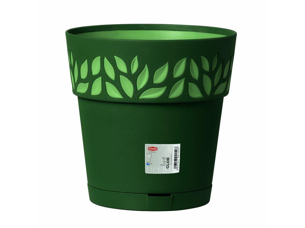 Květináč plastový Opera CLOE průměr 30 cm - barva zelená