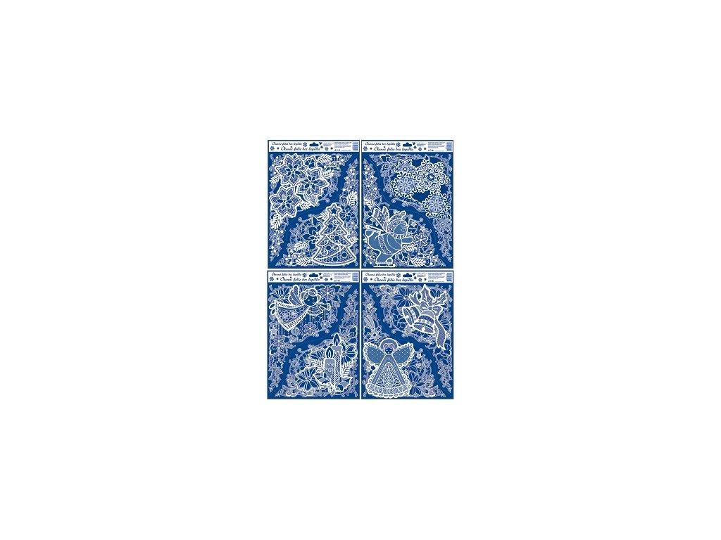 Okenní fólie krajková rohová 38x30cm