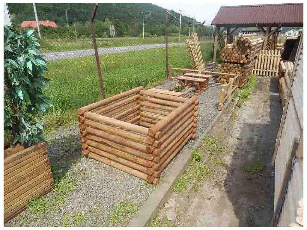 Kompostér dřevěný 200 x 200 x 80 cm