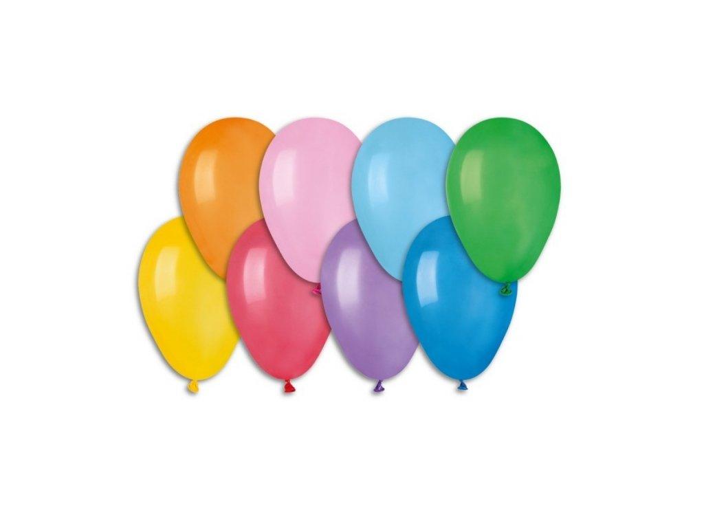 Balónky pastel, 19 cm, 10 ks v balení, mix barev