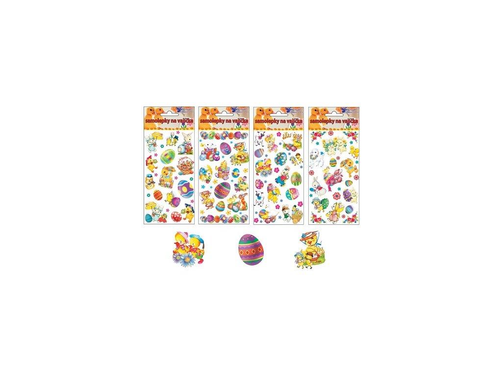 Samolepky velikonoční gelové mix motivů 19 x 9 cm