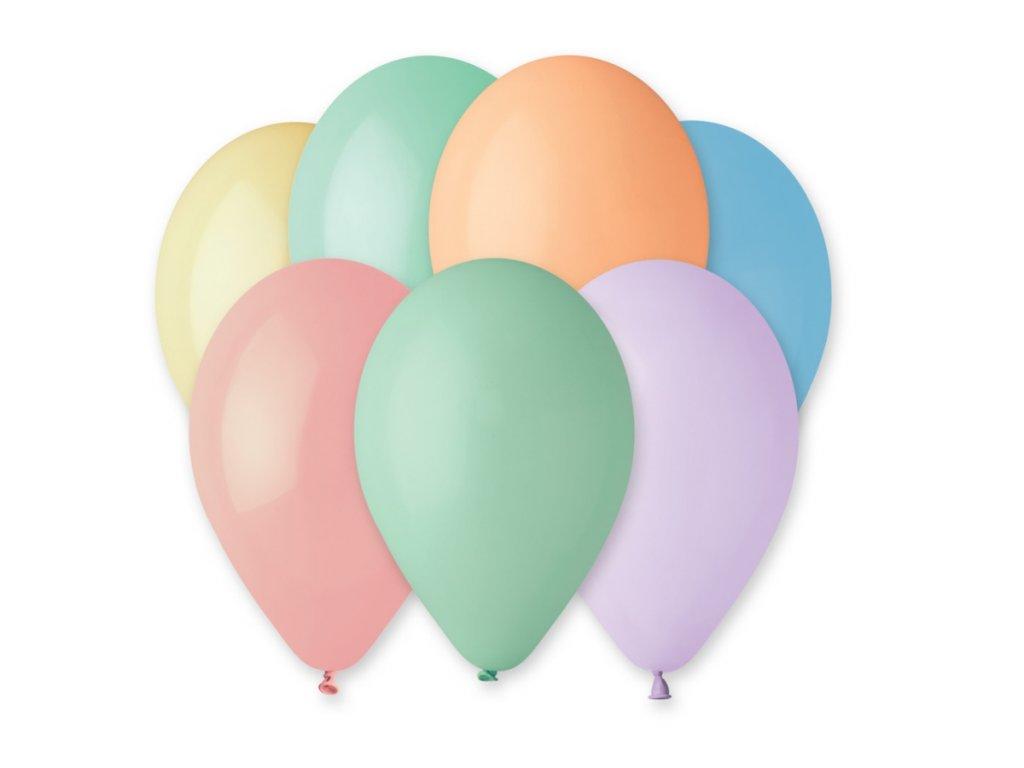 Balónky makronky, 26 cm, 100 ks v balení, mix barev