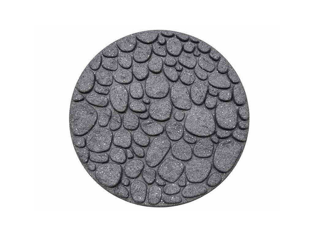 Gumový nášlap na zahradu - KÁMEN - barva šedá