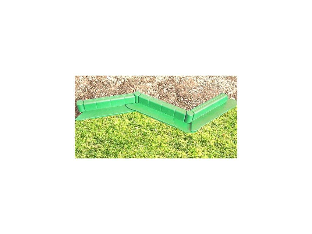 Zahradní plastový obrubní - barva světle zelená