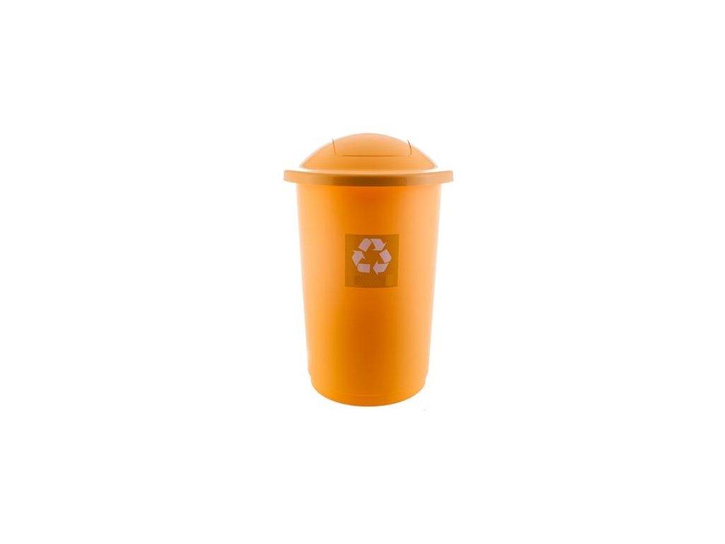 Odpadkový koš plastový TOP BIN 50 L - barva žlutá
