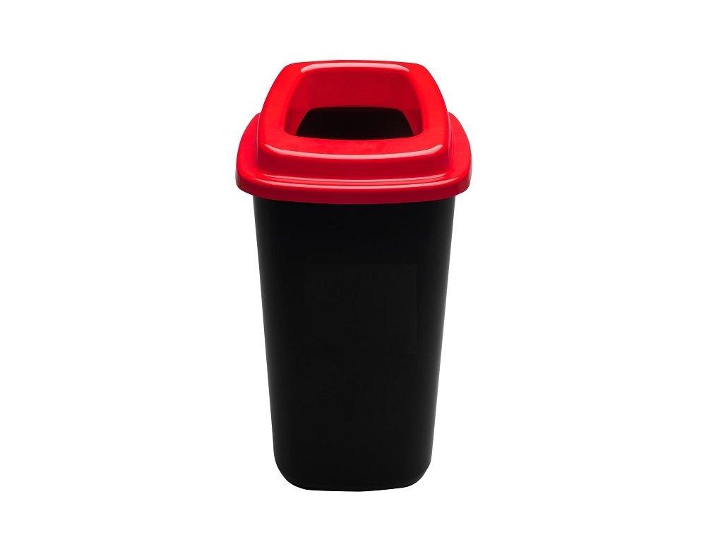 Odpadkový koš plastový SORT BIN 28 L - červené víko