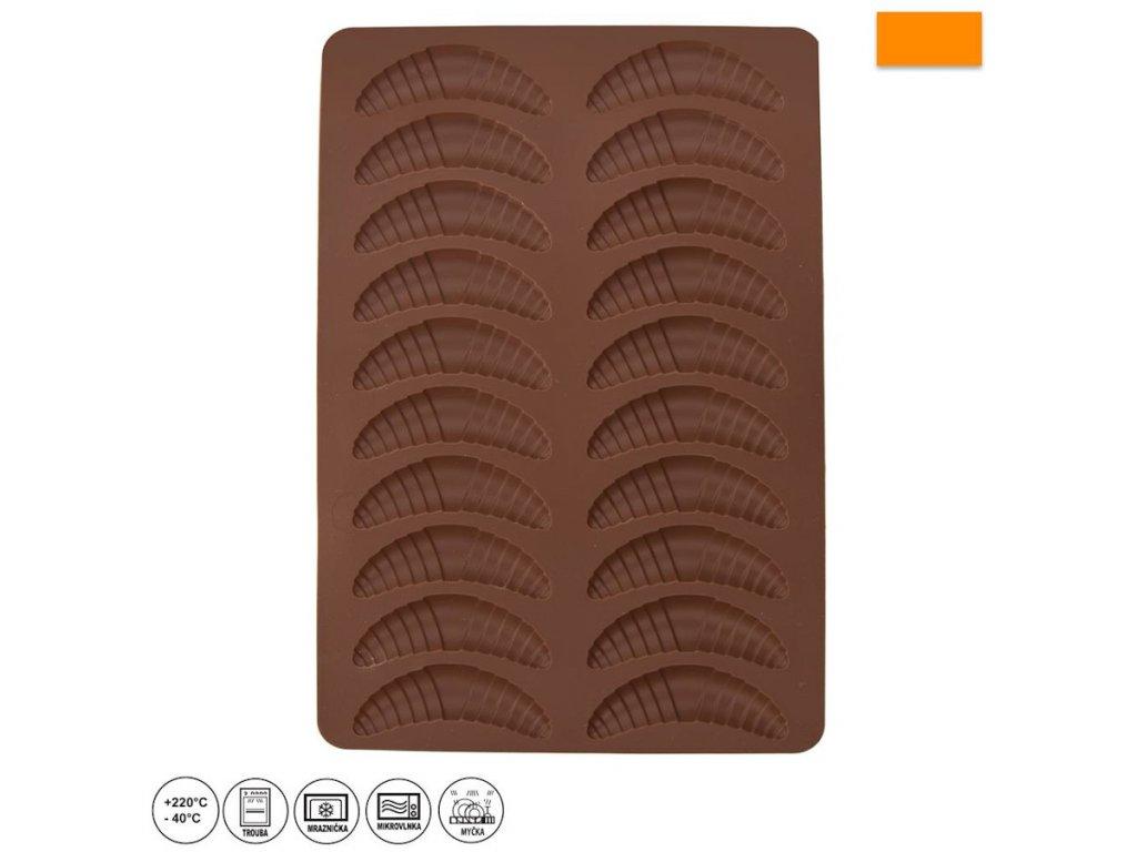 Silikonová forma - vanilkové rohlíčky 20 ks