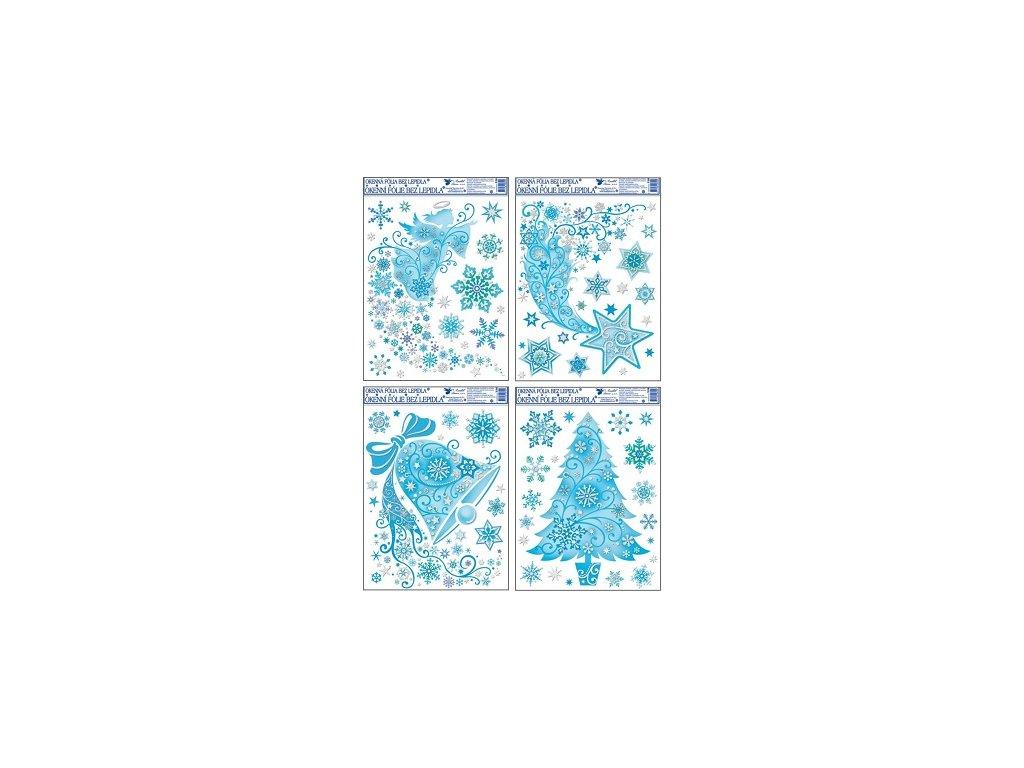 Okenní fólie zvon, kometa, anděl, strom 38x30cm