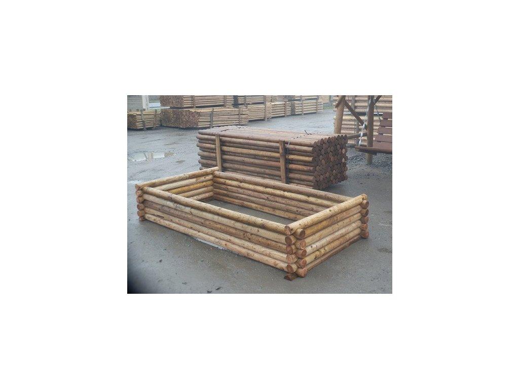 Vyvýšený záhon dřevěný 120 x 40 x 250 cm