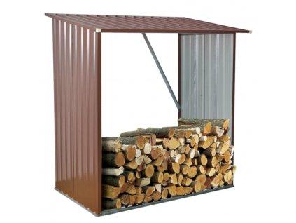 Přístřešek na dřevo 163 x 83 x 154 cm
