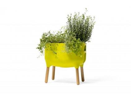 Pěstební nádoba URBALIVE nízká - barva světle zelená