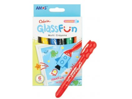 Barvy na sklo Glass Fun 6, smývatelné
