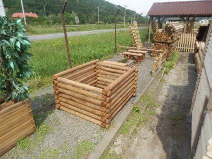 Kompostér dřevěný 120 x 120 x 80 cm