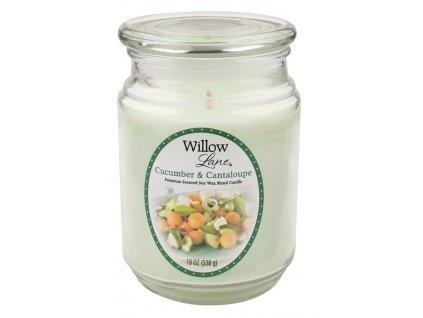 Vonná svíce Candle-lite Willow Lane 538 g - Okurka a meloun cantaloupe