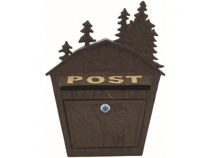 Poštovní schránka se stromky, plechová 36 x 26,5 x 9 cm