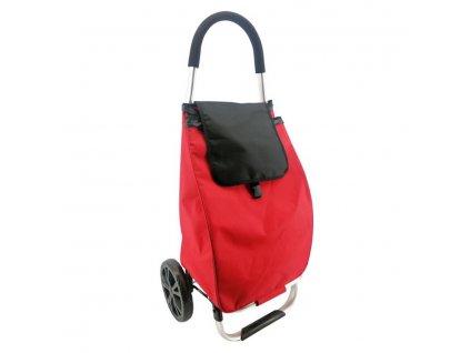 Nákupní taška na kolečkách SEATTLE červeno-černá 52 L