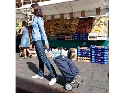 Nákupní taška na kolečkách ARGO modrá
