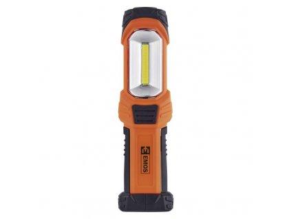 LED svítilna plastová, 3 W COB LED + 1x LED, na 3x AA