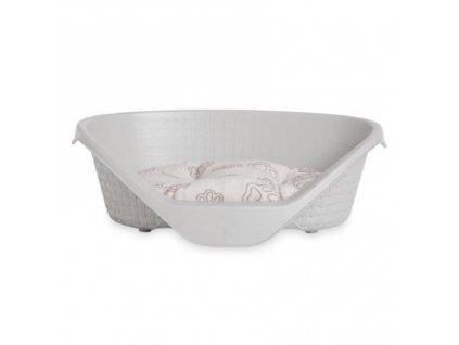 Plastový pelíšek pro psy 75 cm - barva světle šedá