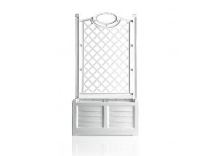 Plastový truhlík s opěrnou mříží Pergo - truhlík s mříží barva bílá