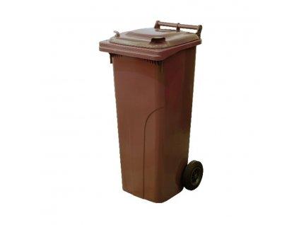 Popelnice plastová hnědá na bioodpad 240 L