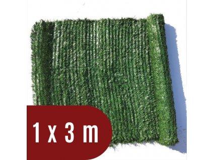 Umělý živý plot jehličnatý - výška 100 cm, balení 3 m - světle zelený