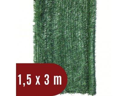 Umělý živý plot jehličnatý - výška 150 cm, balení 3 m - tmavě zelený