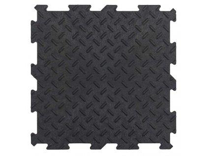 Gumová dlaždice ALPHA TILE 30 x 30 cm - barva černá