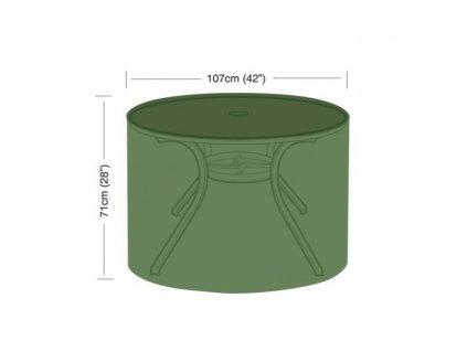 Plachta krycí kulatá pro sud o průměru 107 cm