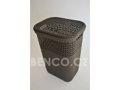 Koš na špinavé prádlo RATTAN 60 L - hnědý