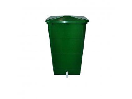 Plastový sud na dešťovou vodu hranatý 300 L s víkem a kohoutkem
