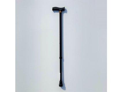 Vycházková hůl ve tvaru T - barva černá