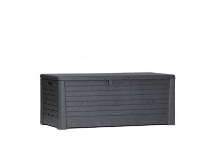 Zahradní úložný box na nářadí a polstry FLORIDA 550 L - barva antracit