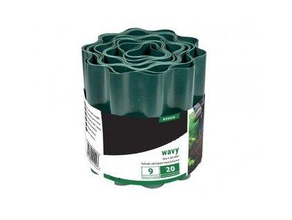 Zahradní obrubník - barva zelená Výška 20 cm