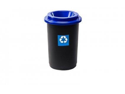 Odpadkový koš plastový ECO BIN 50 L - modré víko